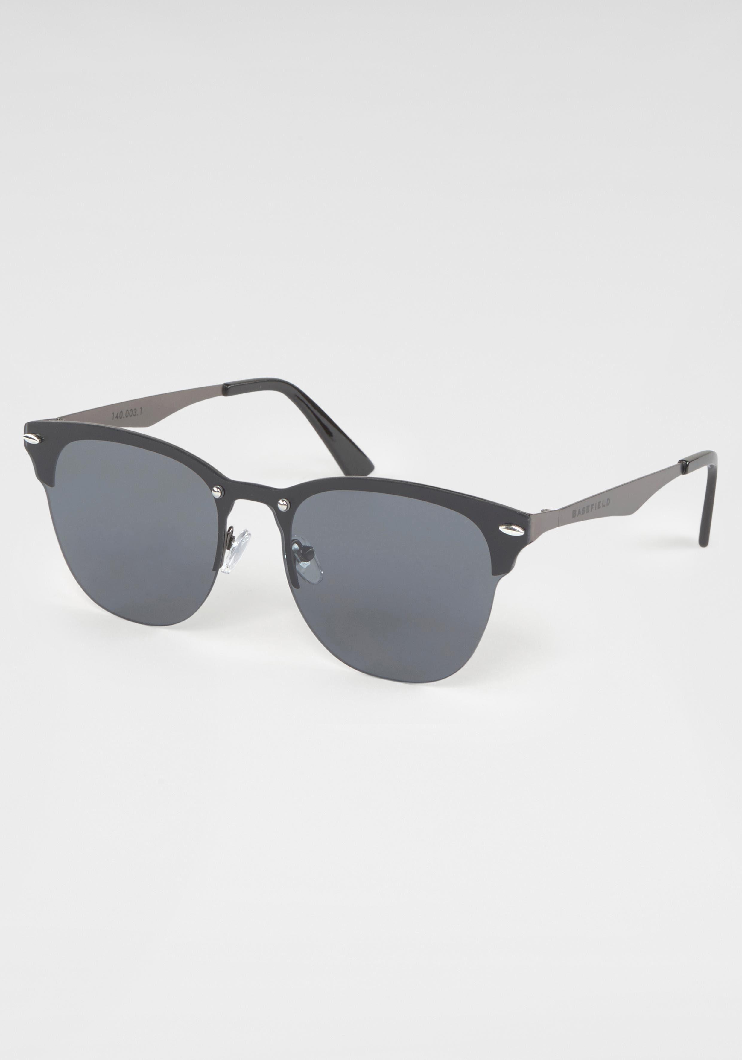 BASEFIELD Retrosonnenbrille Damen Sonnenbrille, Clubmaster Style