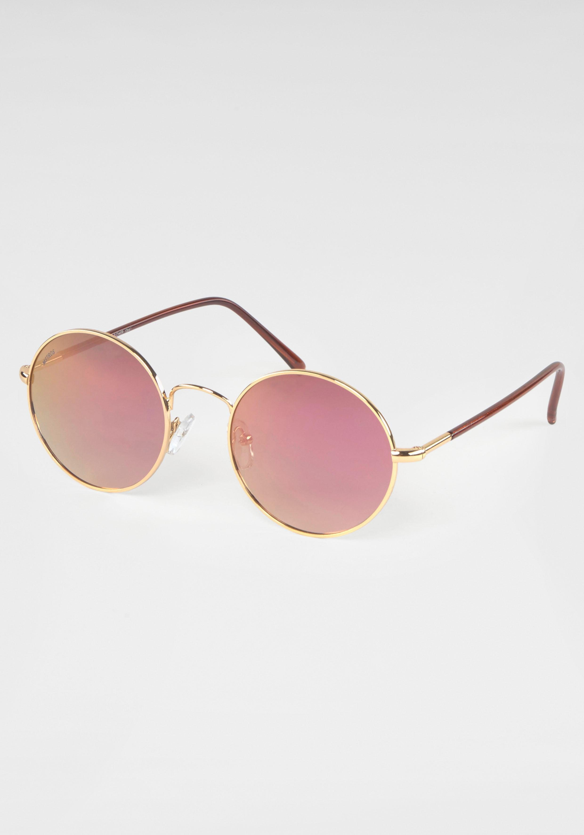 MSTRDS Retrosonnenbrille Circular, Hippie Look, Sixties Style