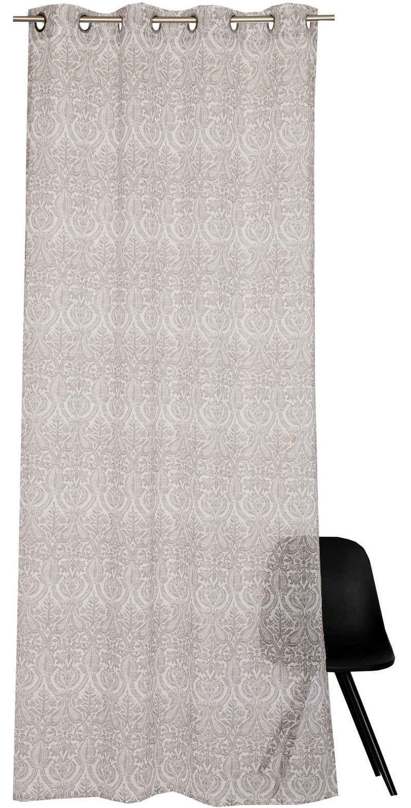Vorhang »E-Hil«, Esprit, Ösen (1 Stück), HxB: 250x140, mit Ornamentmuster