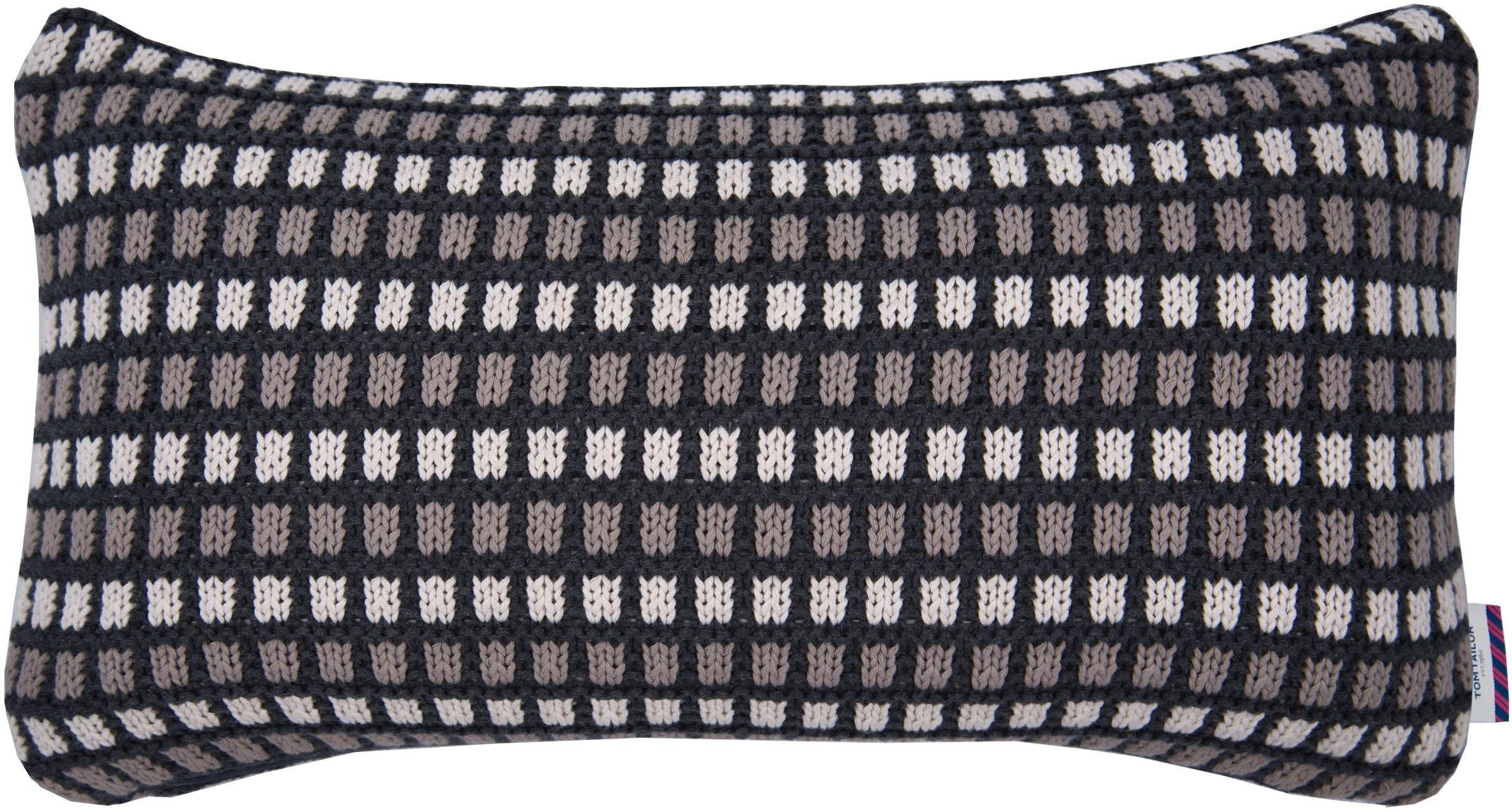 Kissenhülle »KNITTED CHESSBOARD«, Tom Tailor