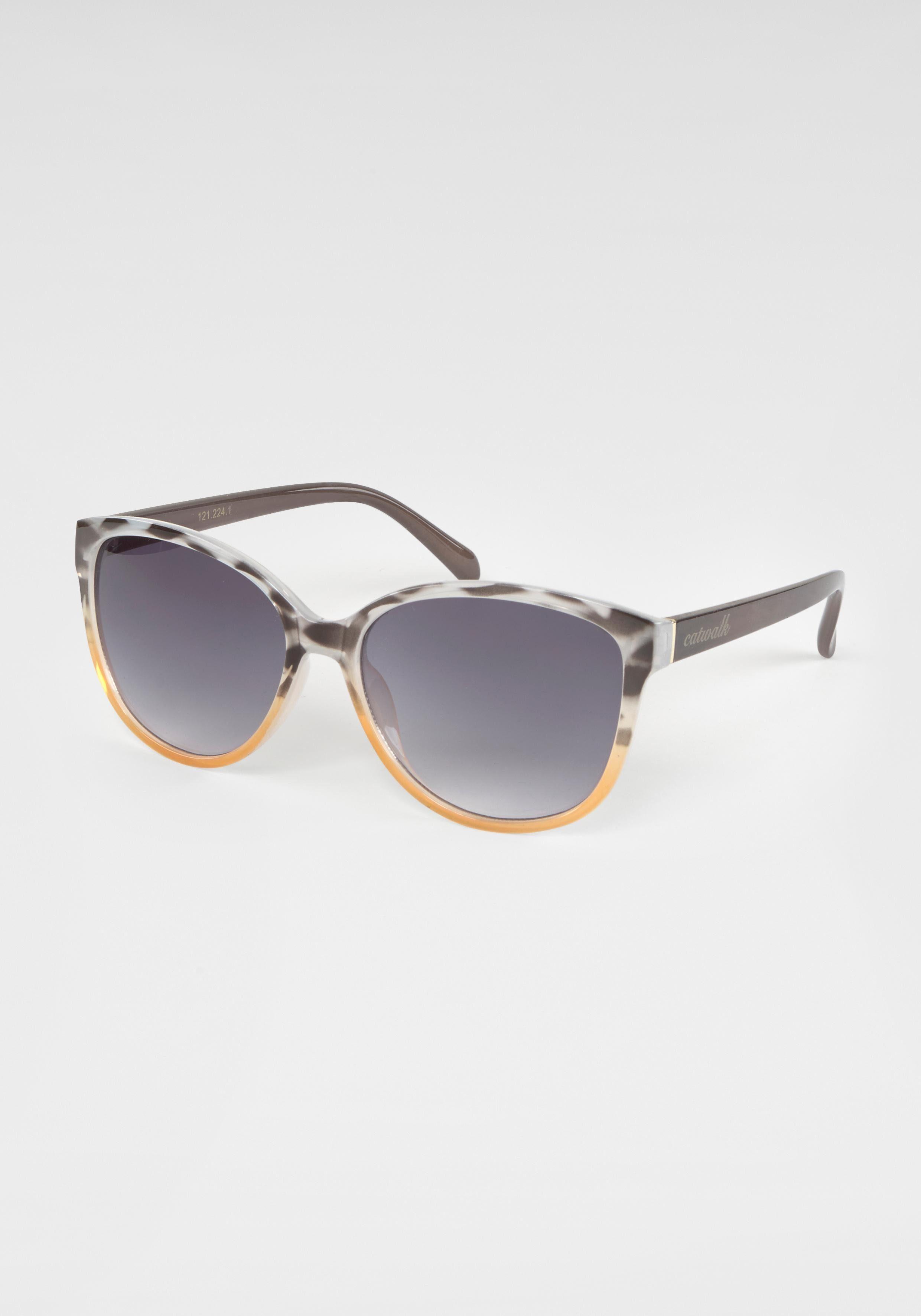 catwalk Eyewear Sonnenbrille (1-St) Damen Sonnenbrille, Animal Look, Bicolor