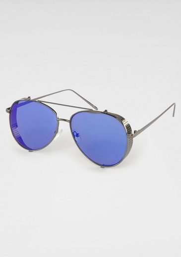 Sonnenbrille Pilotform, Fliegerbrille, Aviator Look, Verspiegelte Gläser
