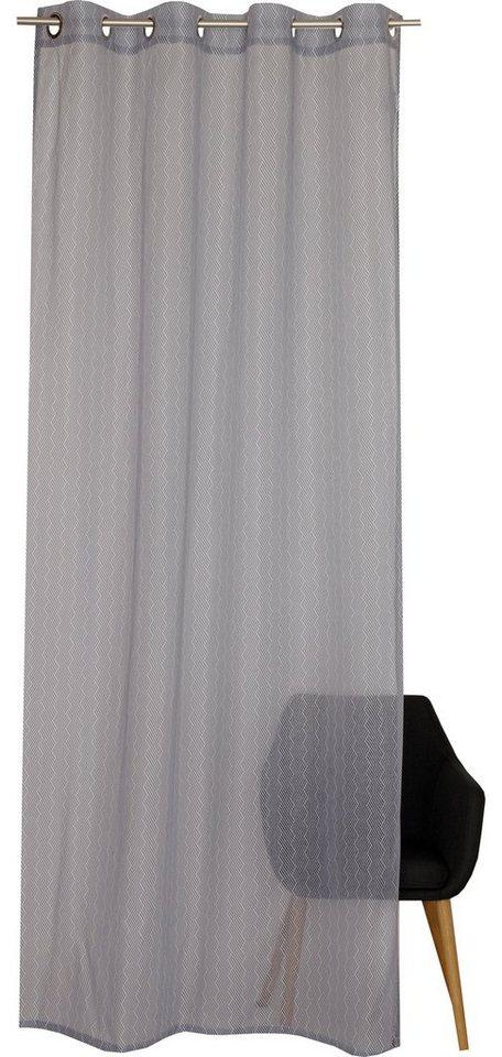 Vorhang »E-Plot«, Esprit, Ösen (1 Stück), mit grafischem Muster ...