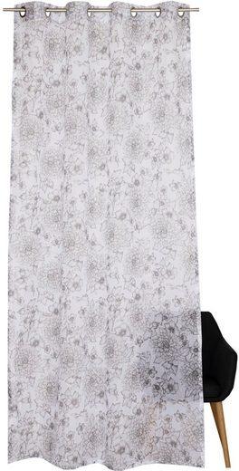 Vorhang »E-Maray«, Esprit, Ösen (1 Stück), mit feingezeichnetem Blumenmuser