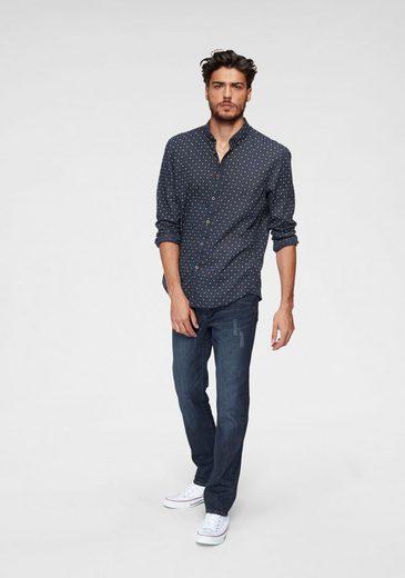 Tailor Bedruckt Langarmhemd Denim Tom Allover HUqAP1