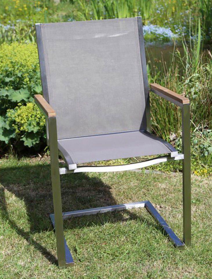 Gartenstuhl »MACAO«, Textil/Edelstahl, stapelbar, inkl. Auflage