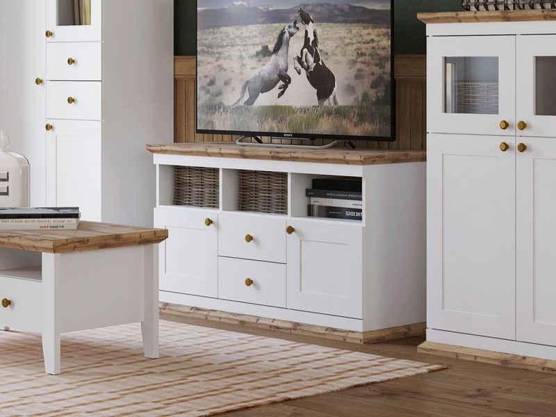 Home affaire Lowboard »Banburry«, mit 2 Holztüren, 121, 5 cm breit