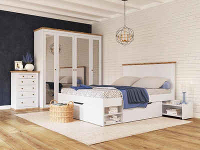 Home affaire Stauraumbett »Banburry«, inklusive 2 Schubladen und 2 ausziehbaren Ablageflächen