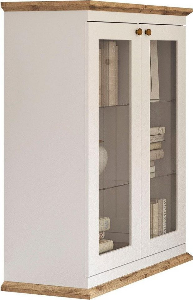 Home Affaire Kommode Banburry Mit 2 Glasturen 83 Cm Breit Online