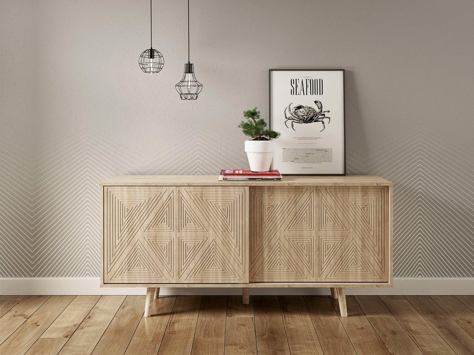 andas sideboard schwalm mit 2 schiebet ren 155 cm breit. Black Bedroom Furniture Sets. Home Design Ideas
