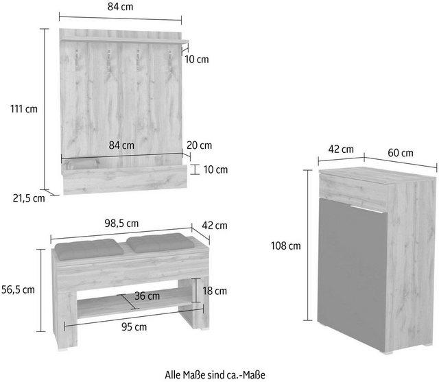 Garderoben Sets - INOSIGN Garderoben Set »Ringla«, (Set, 3 tlg)  - Onlineshop OTTO
