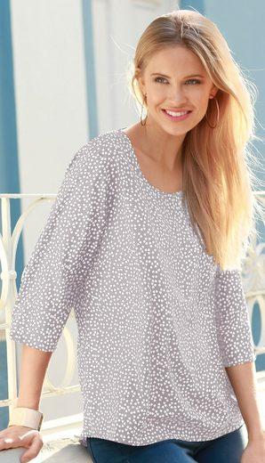 Classic Basics Bluse mit Herzchen-Muster