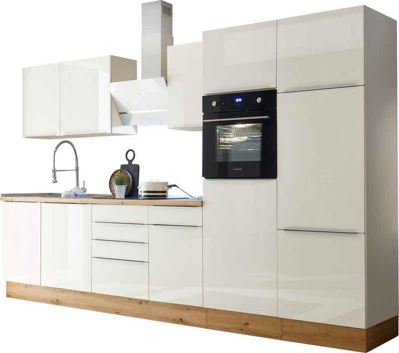 RESPEKTA Küchenzeile »Safado«, mit 2 E-Geräte-Sets zur Auswahl, hochwertige Ausstattung wie Soft Close Funktion, schnelle Lieferzeit, Breite 340 cm