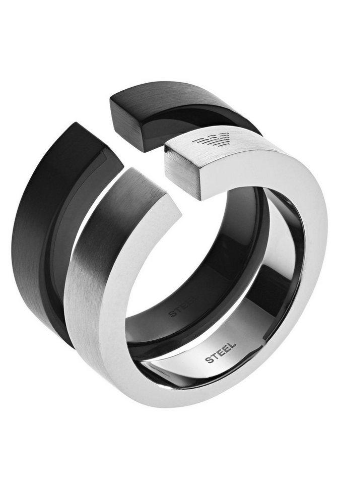 Emporio Armani Ring-Set »HERITAGE, EGS2539040« (Set, 2 tlg)