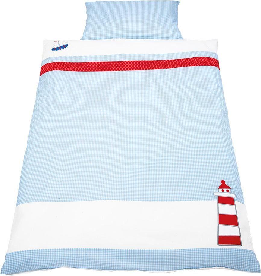 Babybettwäsche »Schiff Ahoi«, Pinolino®, mit aufwendingen Applikationen
