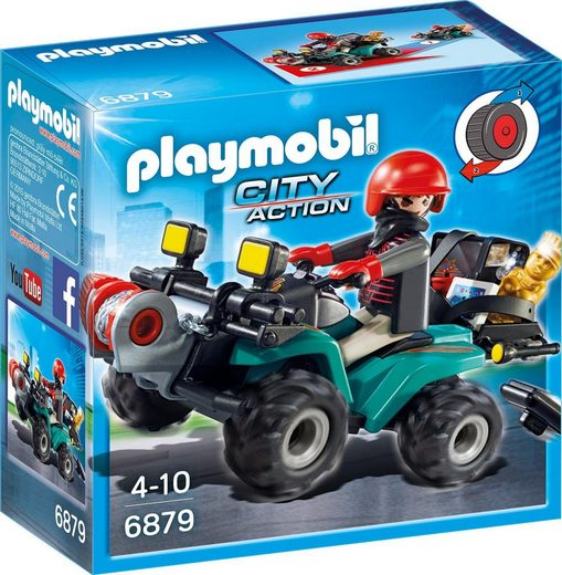 Playmobil® Konstruktions-Spielset »Ganoven-Quad mit Seilwinde (6879), City Action«