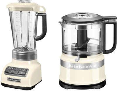 KitchenAid Standmixer 5KSB1585EAC und Mini Zerkleinerer 5KFC3516, 550 W, Vorteilsset: Du sparst gegenüber Einzelkauf 62,90€