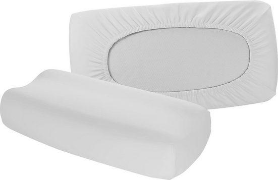 Kissenbezüge »Vital comfort«, fleuresse (2 Stück), für Nackenstützkissen mit Gummizug auf der Rückseite (2 Stück)