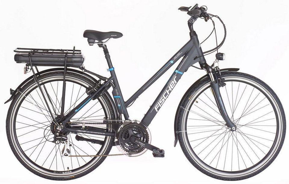fischer damen trekking e bike 36v 250w hinterradmotor 28. Black Bedroom Furniture Sets. Home Design Ideas