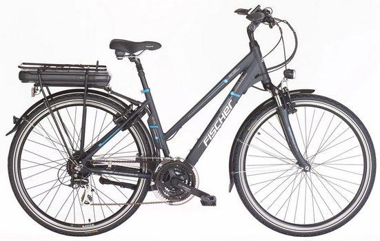 Fischer Fahrräder E-Bike »ETD 1401«, 24 Gang Shimano Acera Schaltwerk, Kettenschaltung, Heckmotor 250 W