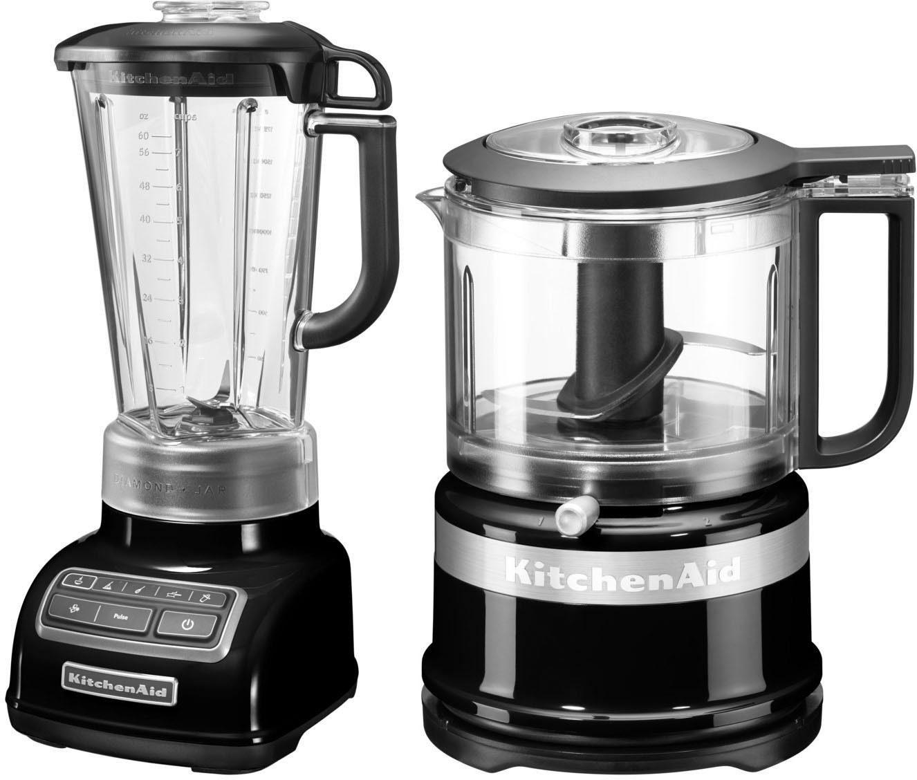 KitchenAid Standmixer 5KSB1585EOB und Mini Zerkleinerer 5KFC3516, 550 W, Vorteilsset: Du sparst gegenüber Einzelkauf 62,90€