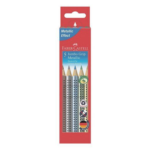 LIGHTPAK® 5er-Pack Buntstifte »Jumbo Grip Metallic«