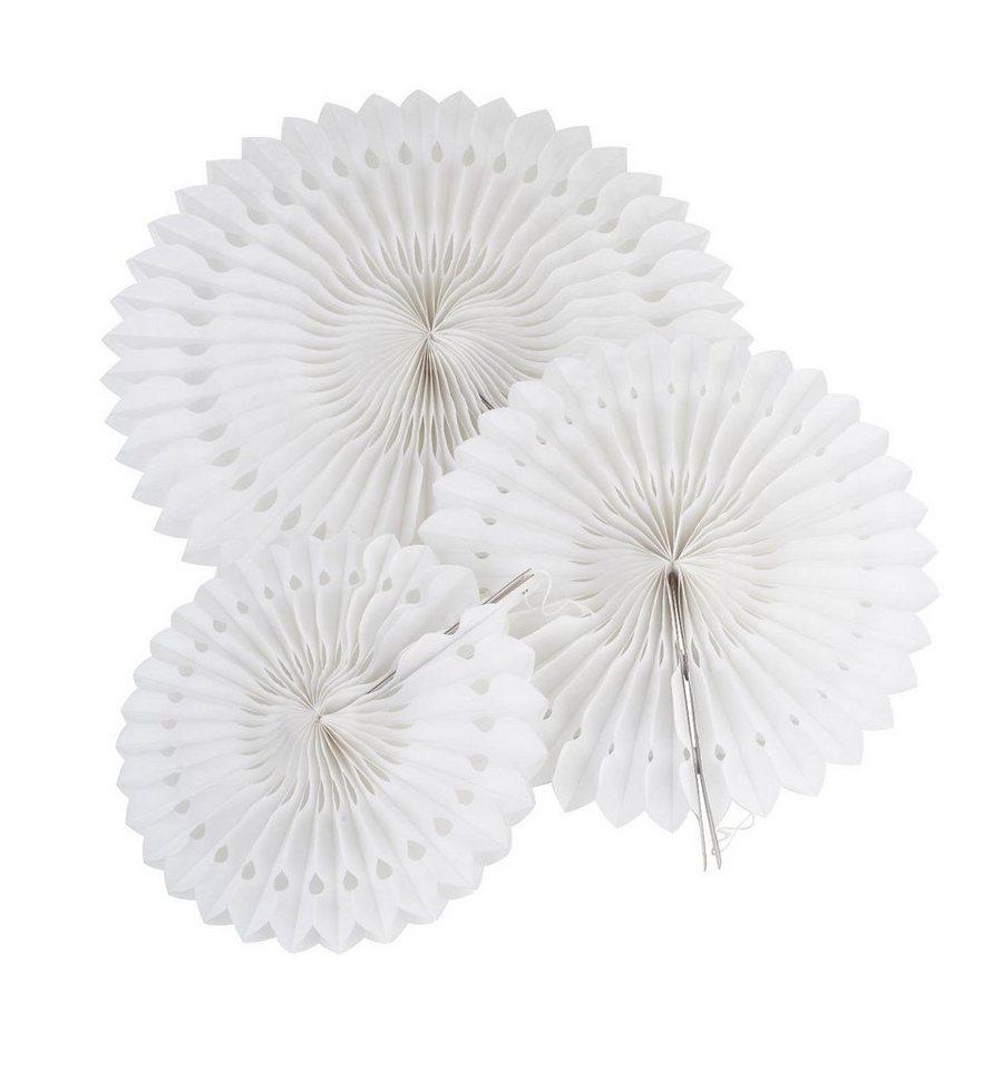 """Wabenpapier """"Blumen Weiß"""", 3er-Set online kaufen"""