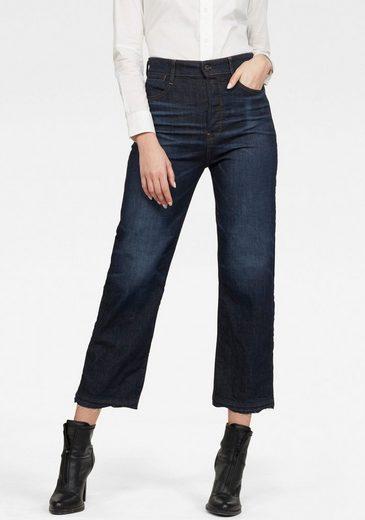 G-Star RAW Ankle-Jeans »Tedie Ultra High Straight Ripped Edge Ankle C Jeans« mit leicht ausgefransten Saumabschluss am Bein