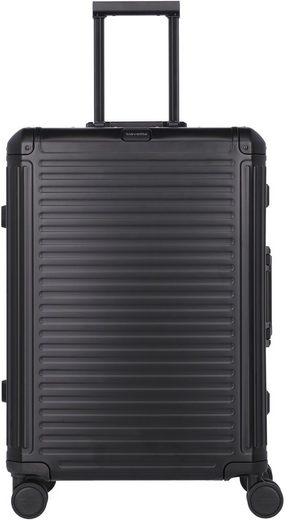 travelite Hartschalen-Trolley »Aluminiumkoffer Next, 67 cm«, 4 Rollen
