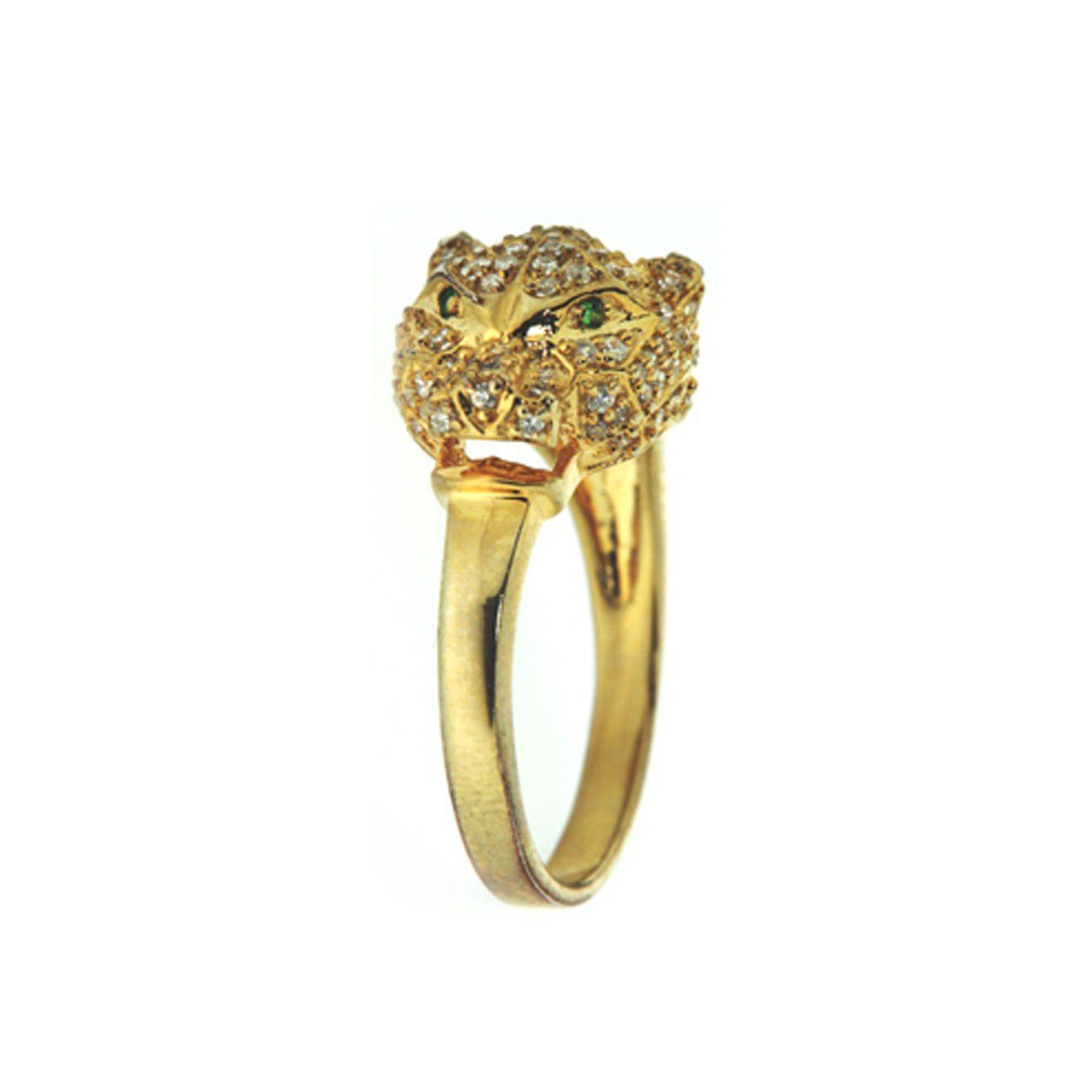 MONA MON'AMOUR Ring »925/- Sterling Silber rhodiniert Leopard verg.«