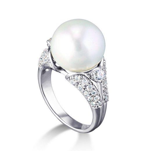 MONA MON'AMOUR Ring »925/- Sterling Silber rhodiniert Perle Zirkonia«