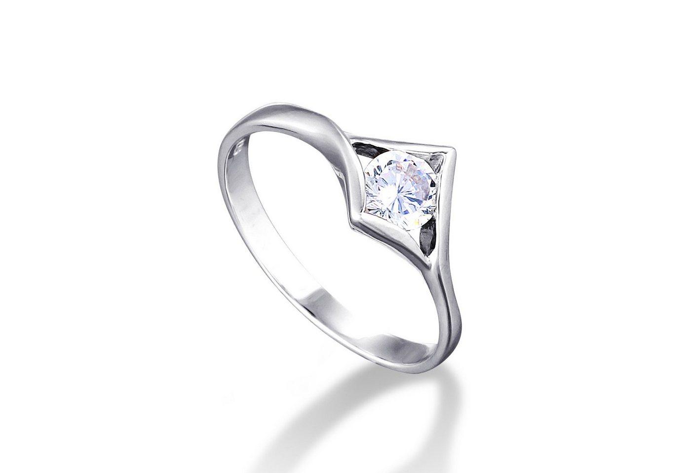 Damen MONA MON AMOUR Ring 925 – Sterling Silber rhodiniert mit funkelnden Zi weiß   04260575630934