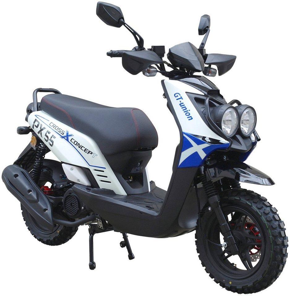gt union motorroller px55 cross concept 125 125 ccm 85 km h online kaufen otto. Black Bedroom Furniture Sets. Home Design Ideas