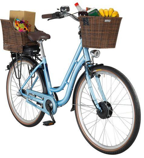 FISCHER FAHRRAEDER E-Bike City Damen »ER1804«, 28 Zoll, 3 Gang, Frontmotor, 317 Wh