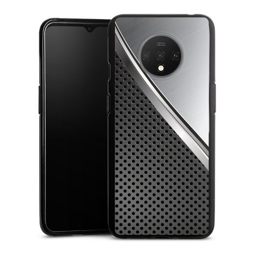 DeinDesign Handyhülle »Duo Metal Surface« OnePlus 7T, Hülle Carbon Metall Muster