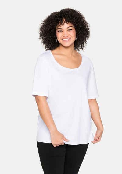 Sheego T-Shirt aus reiner Baumwolle