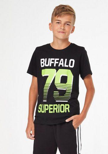 Buffalo T-Shirt mit Druck vorn