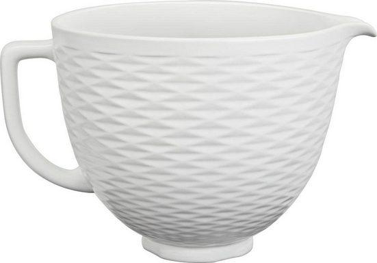 KitchenAid Küchenmaschinenschüssel »5KSM2CB5TLW, 4,7-L-Keramikschüssel«, Keramik, für KitchenAid-Küchenmaschinen mit kippbarem Motorkopf
