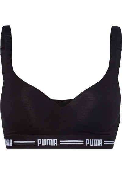 PUMA Bralette »Iconic« mit leicht gepaddeten Cups
