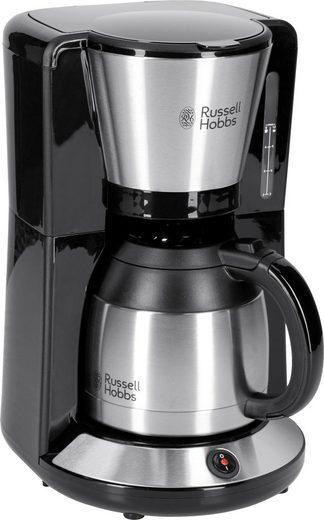 RUSSELL HOBBS Filterkaffeemaschine Adventure 24020-56, 1l Kaffeekanne, Papierfilter 1x4, mit Thermokanne, 1100 Watt, Edelstahl gebürstet