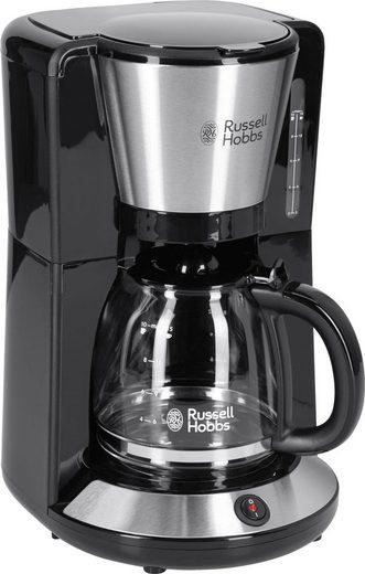 RUSSELL HOBBS Filterkaffeemaschine Adventure 24010-56, 1,25l Kaffeekanne, Papierfilter 1x4, mit Glaskanne, 1100 Watt, Edelstahl gebürstet