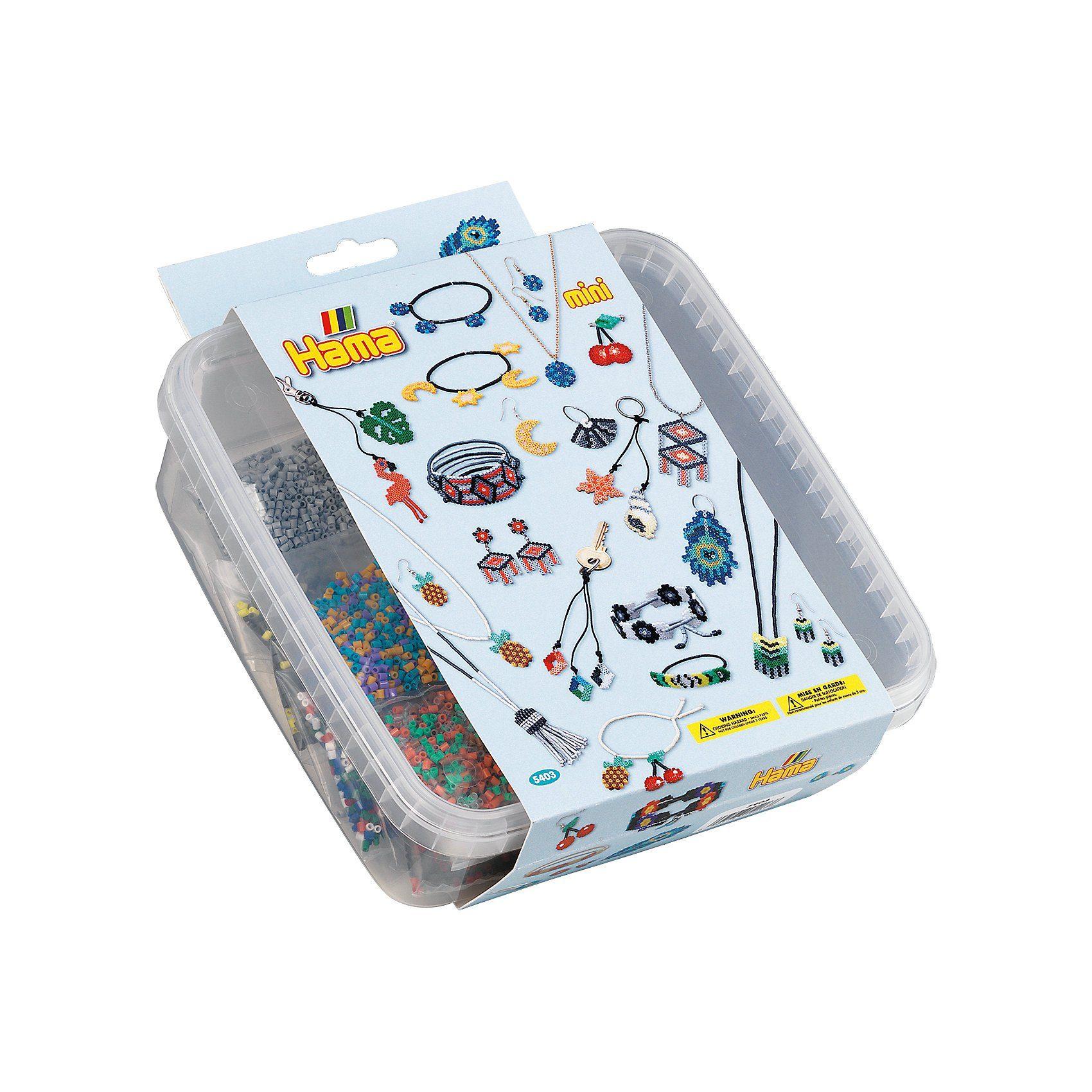 Hama Perlen HAMA 5403 Box mit 10.500 mini-Perlen & Zubehör