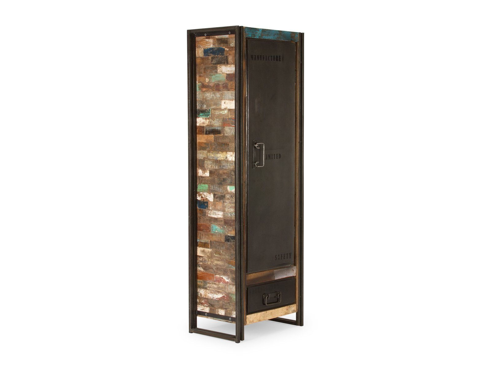 massivum Highboard aus Recycelt massiv »Quebec«