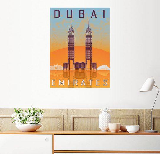 Posterlounge Wandbild »Dubai - Twin Towers«
