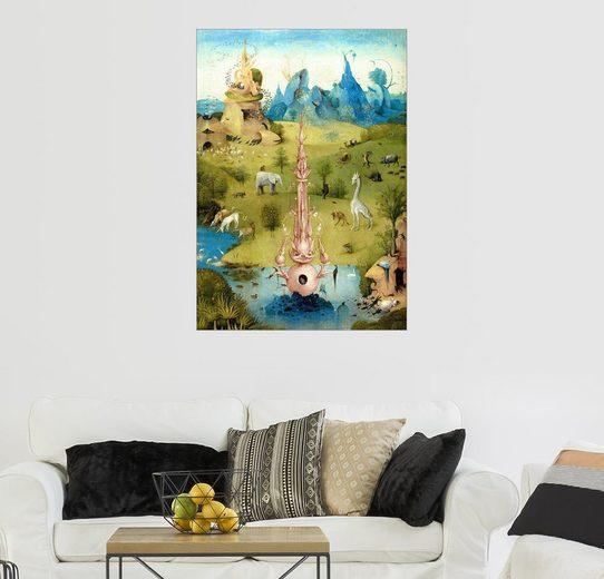 Posterlounge Wandbild - Hieronymus Bosch »Garten der Lüste, das Paradies (Detail)«