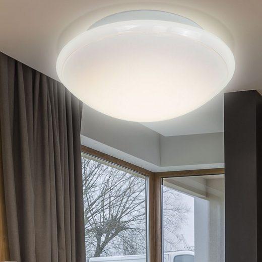 WOFI Deckenstrahler, LED Decken Lampe Schlafzimmer Glas Beleuchtung Fluter weiß A WOFI 9450.01.06.0300
