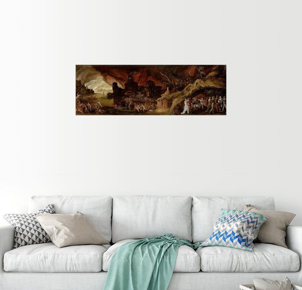 Posterlounge Wandbild - Jakob Isaaksz Swanenburgh »Das Jüngste Gericht und die sieben Todsünden«