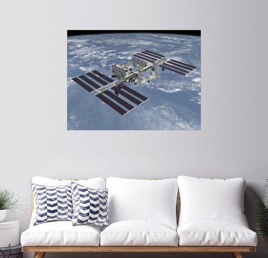 Posterlounge Wandbild - Stocktrek Images »Internationalen Raumstation ISS«