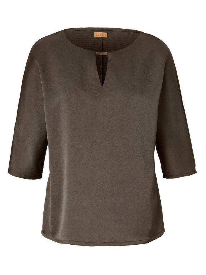 odeon bluse mit metall riegel weich flie ende ware online. Black Bedroom Furniture Sets. Home Design Ideas