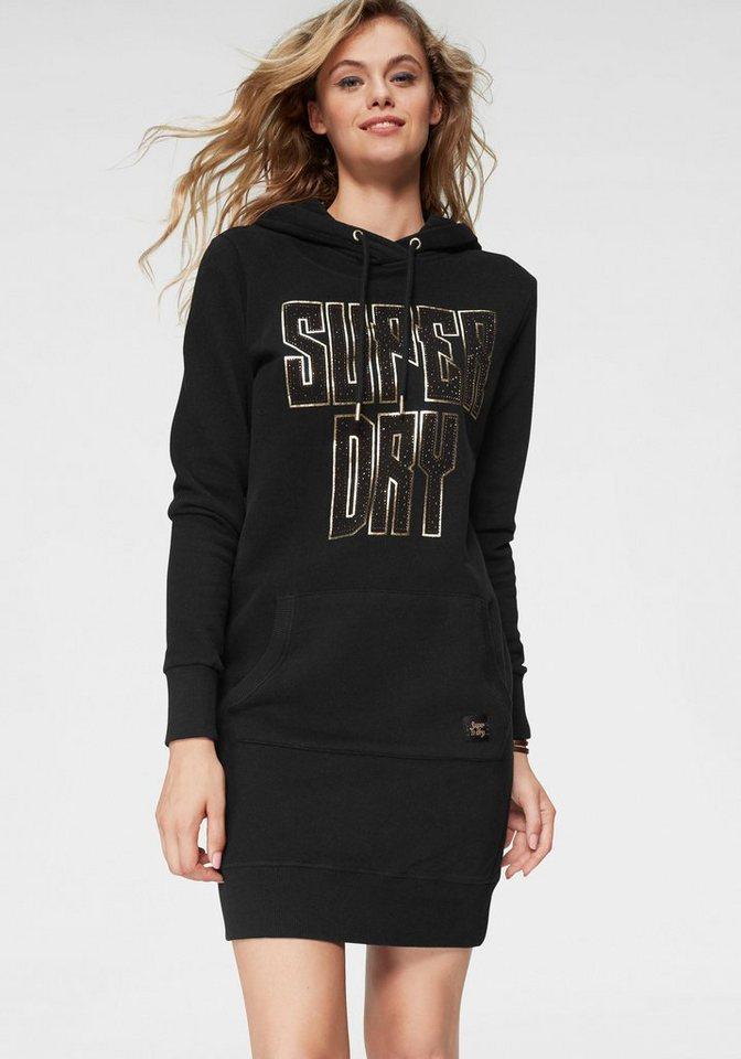 100% korkealaatuista sulavalinjainen yksityiskohtainen ilme Superdry Sweatkleid »DEAKIN EMBELLISHED SWEAT DRESS« mit metallicfarbenem  Logoschriftzug online kaufen | OTTO